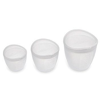 Pampered Chef Silicone Prep Bowls (Set of 3),White