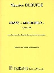 Editions Durand Messe Cum Jubilo (Organ/Vocal Score) TTBB Composed by Maurice Durufle (Ttbb Sheet Music Choral)