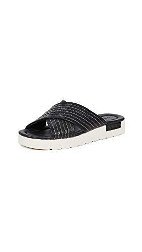 - Vince Women's Camden Crisscross Slides, Black, 7 M US