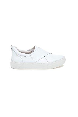 Slides J Leather White White Alec p4w0Rxwv