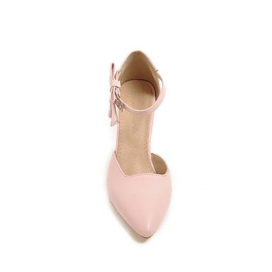 pwne La Mujer Tacones Zapatos Club Polipiel Primavera Otoño Casual Bowknot Stiletto Talón Almond Rubor Rosa Negro Blanco 3A-3 3/4 Pulg. US5.5 / EU36 / UK3.5 / CN35