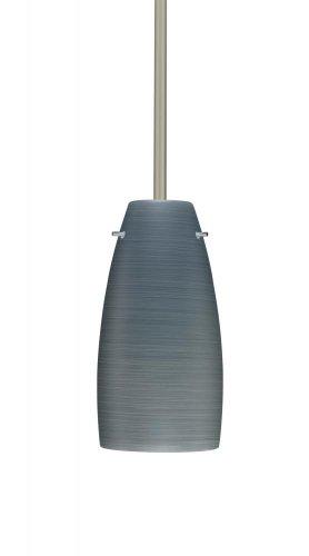 Besa Lighting 1TT-1512TN-SN 1X100W A19 Tao 10 Pendant with Titan Glass, Satin Nickel Finish ()
