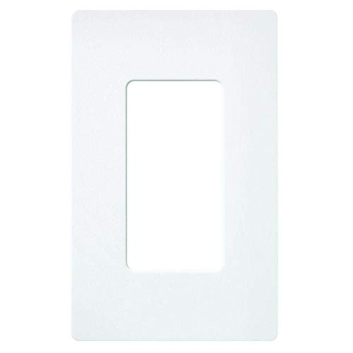 Lutron Claro 1 Gang Decorator Wallplate, SC-1-SW, Snow Diva Satin Colors Dimmers