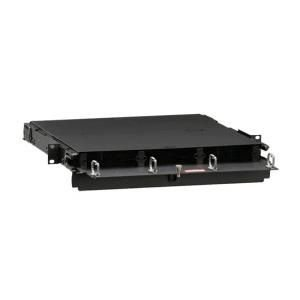 Leviton 5R1UM-F03 16 Gauge Steel Series 1000i SDX Distribution and Splice Enclosure 72-Fiber LC 19 Inch x 1.72 Inch Powder Coated Black - Sdx Black