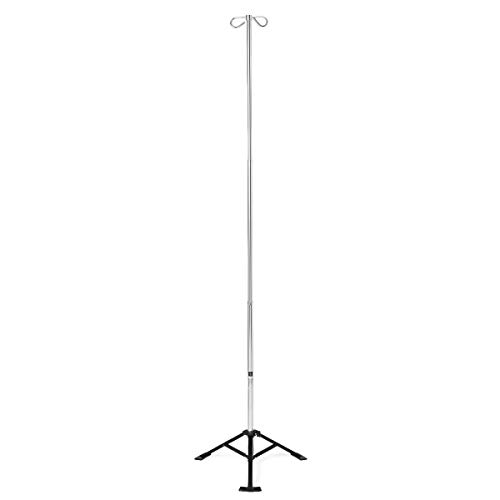Medline Adjustable Homecare IV Pole for Home - Pole Portable Iv