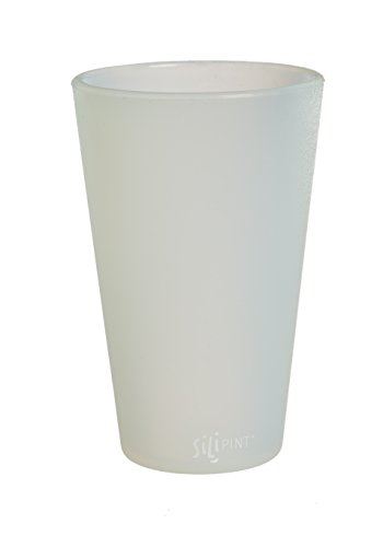 Frosted Pint Glass (SiliPint 2SPT003  Frosted Shatterproof Silicone Pint Glass, 16 oz, White)