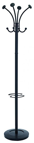 Alba Coat - Alba Classic Floor Coat Rack/Stand with 4-Double Pegs, Black (PMVIENAN)