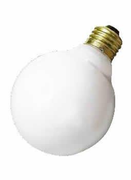 Bulbrite 340025 - 25G30WH - 25 Watt G30 Globe Light Bulb, White
