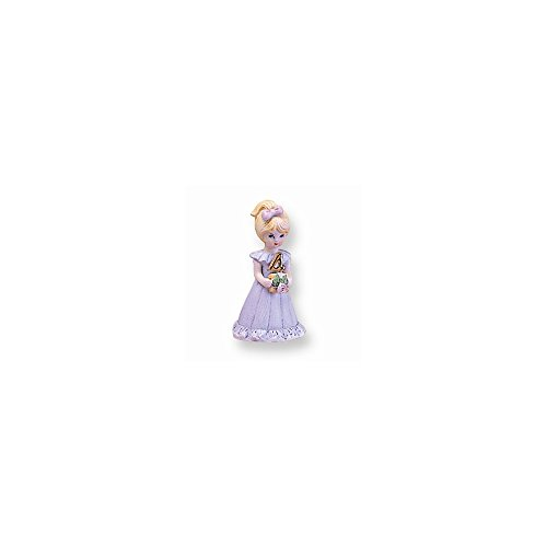 Perfect Jewelry Gift Blonde Age 4 Porcelain Figurine (Figurine Age 4 Porcelain)