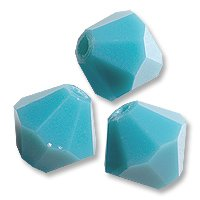 (Swarovski Crystal Bicone Beads 5328 6mm Turquoise (Package of 10))