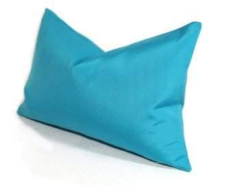 600 Thread Count 100% Egyptian Cotton Pillow Shams Standard Size 20X26 Turquoise Blue Solid (Pack of 2)