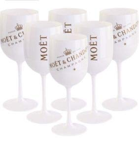 - Moët & Chandon Ice Impérial 6 Flutes Acrylic-Goblets Glasses in Original-Box