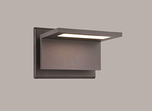 Finished Wall Lamp - Inowel Waterproof Outdoor Lighting Surface Mounting LED Wall Lamp, Painted Grey Color Aluminium Finished 3000K