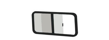C.R. LAURENCE VW8249 CRL Universal Non-Contoured Horizontal Sliding Window 25-1/4' x 16-3/4' with 2-1/4' Trim Ring