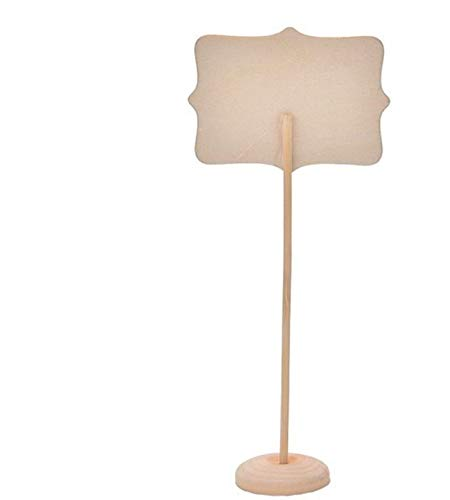 Youkara 10pz mini lavagna segni con supporto set cancellabile legno rettangolo Message Board segni