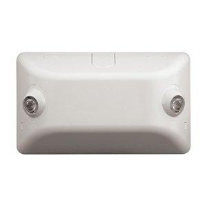 Dual-Lite EVR2 LED Emergency Light, 4W Double Head Remote Indoor 88 Lumens - Black