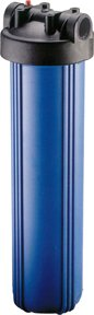 20'' Big Blue Filter Housing, Blue/Black, 1'', w/ Pressure Relief by Applied Membranes, Inc.