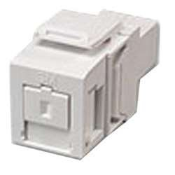 Leviton White Quickport Single Simplex SC Fiber Optic Adapter Module 41085-SWC
