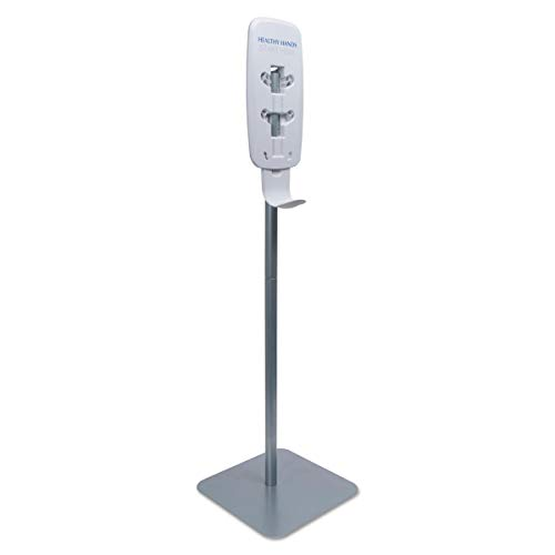 Station Purell Sanitizing Gojo - PURELL 2423DS LTX or TFX Touch-Free Dispenser Floor Stand, Silver, 23 3/4 x 16 3/5 x 5 29/100