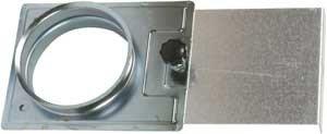 Zubeh/ör f/ür die Absauganlage Absperrschieber D=80 mm