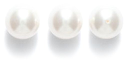 SWAROVSKI ELEMENTS Swarovski White Round Pearl Beads, 6-mm, ()
