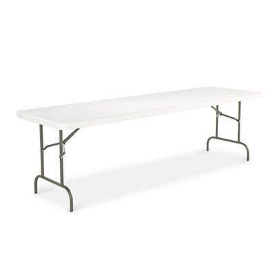 Resina rectangular mesa plegable, borde cuadrado, 96 W x 30d X 29H ...