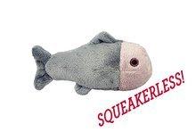 Fluff & Tuff Guppy Fish Squeaker-Less Plush Dog Toy