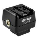 VILTROX FC-6S Hot-shoe Adapter Wireless Flash Controller (Black) (Wireless Hot Shoe Flash)