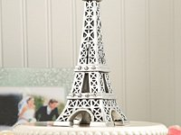 From Paris With Love Collection, Eiffel Tower Centerpiece / Cake Topper - 18 count