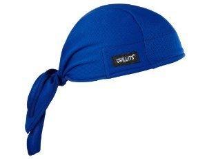 Ergodyne Chill-Its 6615 Absorptive Moisture-Wicking Dew Rag, Blue