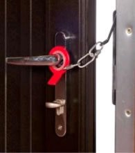 Secure-Ring Standard Security Door Chain - black (right hand)