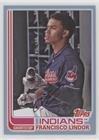 Francisco Lindor #/75 (Baseball Card) 2017 Topps Archives - [Base] - Light Blue #112 ()