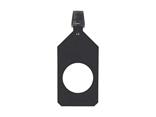 - Monoprice Ellipsoidal Aluminum Replacement Gobo Holder - B Size | Metal or Glass - Stage Right Series