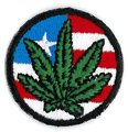 Matt Stewart, AMERICAN FLAG POT, High Qulity Iron-On / Saw-On Embroidered Mini PATCH - 1.5