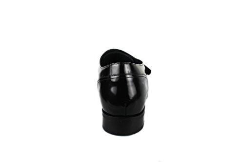 Scarpe Zerimar Con Rialzo Interno Di 7 Cm Stile Elegante In Pelle 100% Pelle Colore Nero Nero