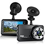 Dash Cam, Mokcoo 1080P Full HD 3.0' LCD Car Camera Video Recorder 170° Wide Angle Dashboard DVR Camcorder Built-in G-Sensor WDR Night Vision Loop Recording & Motion Detection (1080P)