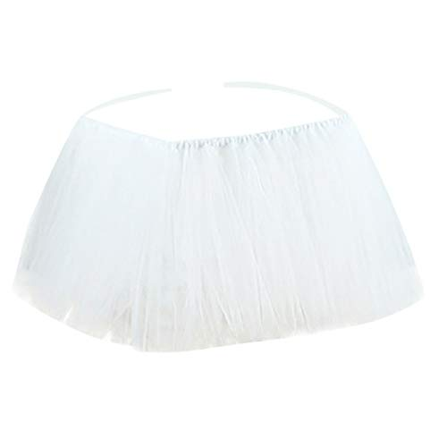 1st Birthday Baby Pink Tutu Skirt for High Chair Decoration Baby Shower Birthday Party Supply,99x35 (L) ()