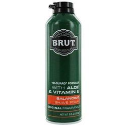 Brut Tri Guard Formula Balancing Shaving Foam with Aloe and Vitamin E, Original Fragrance, 9.5 Ounce (Pack of 3)