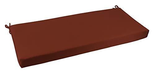 RSH Décor Indoor/Outdoor Bench Cushion Made from Premium Sunbrella Canvas Terracotta Fabric - 2