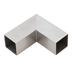 Degree 90 Horizontal Corner - CRL Brushed Stainless 90 Degree Horizontal Corner for 1-1/2 Hand Rail Square Tubing HRS15HBS