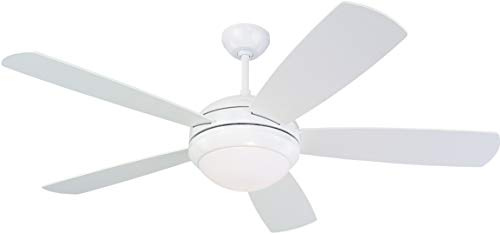 Monte Carlo 5DI52WHD-L Discus 52' Ceiling Fan with Light and Pull...