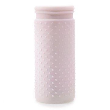 Vintage Hobnail, Antique Vase, Glass Jar, 4 x 10 Inches, Pastel Pink