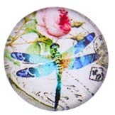 Laliva 48pcs 12mm Beautiful Dragonfly Round Handmade Photo Glass Cabochons & Glass Dome Cover DIY Ornament Settings - (Color: 5, Size: 16mm) - Cabochon Art