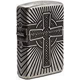 Zippo Armor Celtic Cross Design Pocket Lighter