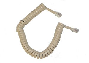 6 ft telephone cord coiled - 5
