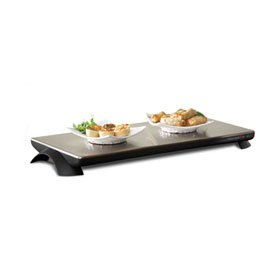 Toastess 23.75x11.75-in. Silhouette Cordless Warming Tray.