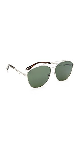 Givenchy Women's Square Aviator Sunglasses, Palladium/Green, One - Givenchy Green