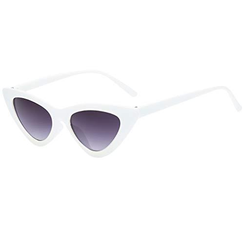Xturfuo Small Cat Eye Sunglasses Vintage Square Shade Women Eyewear Goggles Plastic Frame ()