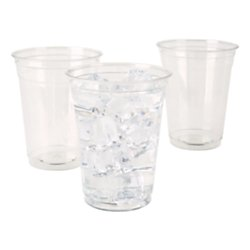 Highmark Office Depot Plastic Cups, 16 Oz, Clear, Pack Of 100, 11590