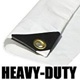24'X36' EXTRA Heavy Duty White Tarp by ptm